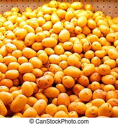Small potatoes - Big bunch of small potatoes at market
