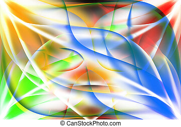 Abstract colored background Illustration of colored flame