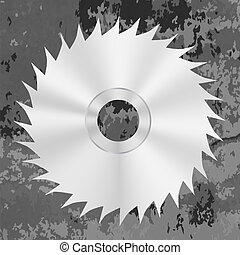 Silver Metal Saw Disc
