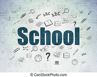 Education concept: School on Digital Paper background
