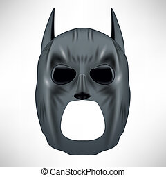 Superhero Grey Mask Isolated on White Background