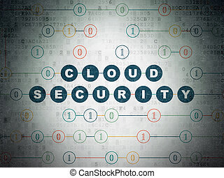 Cloud networking concept: Cloud Security on Digital Paper background