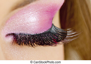 detail of woman\'s makeup