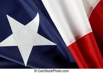 Macro shot of Chilean flag