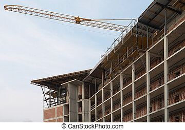 Modern building - Construction of high-rise frame buildings,...