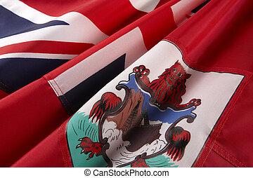 Macro shot of flag of Bermuda