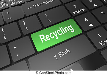 Keyboard enter button with recycling