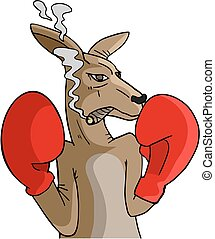 Boxing kangaroo - Creative design of Boxing kangaroo