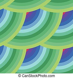 Vector seamless abstract pattern of elements in all colors of the rainbow
