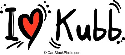 Kubb love - Creative design of Kubb love