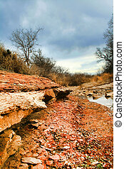 Red Riverbed - A riverbed in the desert