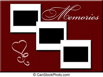 3 blank slides - memories - 3 blank slides with burgundy...
