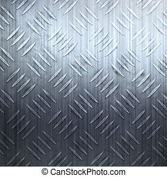 Worn Diamond Plate - Worn diamond plate metal texture in a...
