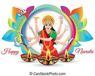 abstract artistic colorful navratri background