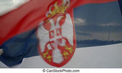 serbian flag - serbian waving flag