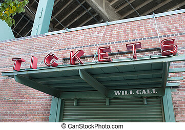 Tickets Booth at Fenway Park