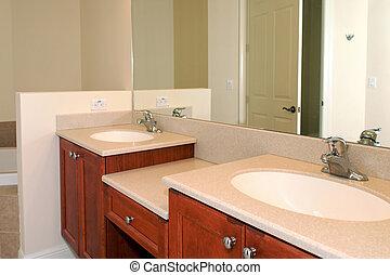 bathroom vanity - view of a his and hers bathroom vanity