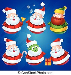Cute Cartoon Santa Claus Set - Cute cartoon Santa Claus...