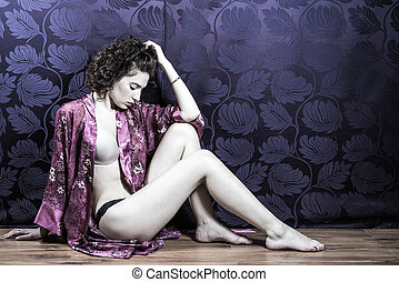 Woman Reflecting On Intimacy Issues - Desireable young woman...