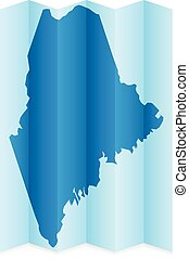 Maine map on a white background Vector illustration