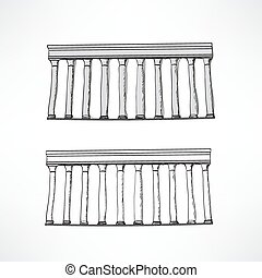 Stylized Greek columns