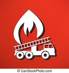 illustration of a fire engine