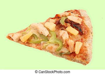 Multigrain pizza - A slice of multigrain crust pizza with...