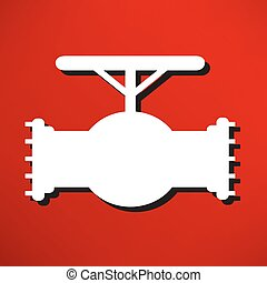 Simple icon connecting pipes valve