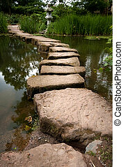Stepping stones - Japanese Garden Stepping Stones