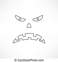 Scary face of halloween.