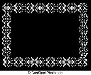 Black and white border illustration