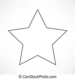 Communist star with hammer and sickle on white background