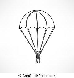 Parachute, icône,