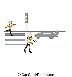 traffic light, illustrator