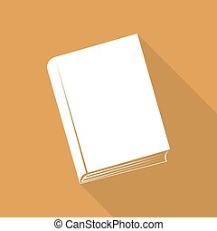 Book icon with a long shadow