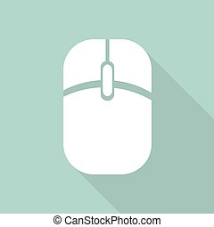 Icon Computer mouse with a long shadow