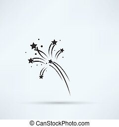 Fireworks rockets sign icon. Explosive pyrotechnic device...