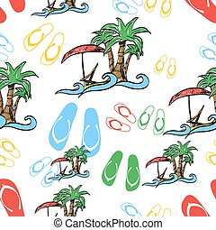 Palm tree seamless pattern