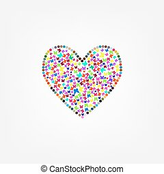 butterfly flying heart