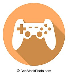 game joypad icon with a long shadow