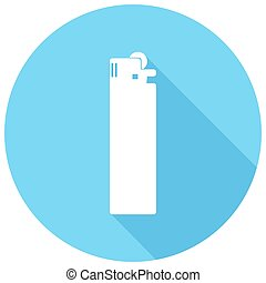 Icon lighter with a long shadow