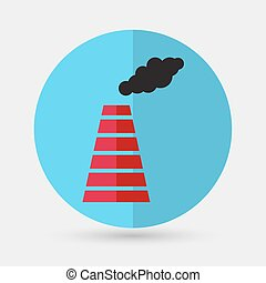 Smoke emission from factory pipes icon