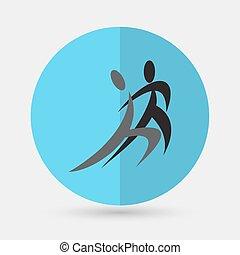 dança, ícone,