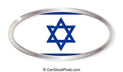 Israel Flag Oval Button