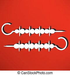 Shish kebab on skewers Icon