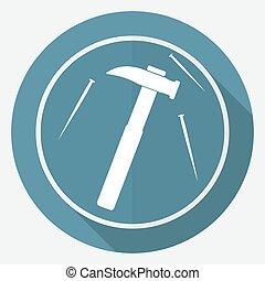 Hammer a nail icon