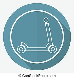 scooter for children icon
