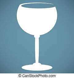The wineglass icon Goblet symbol