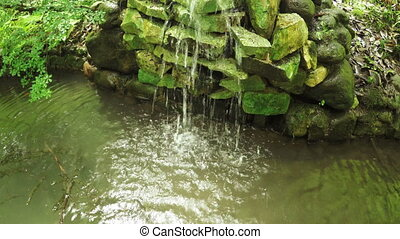 Artificial waterfall - In Batumi Botanical small artificial...