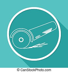 Simple icon angle grinder